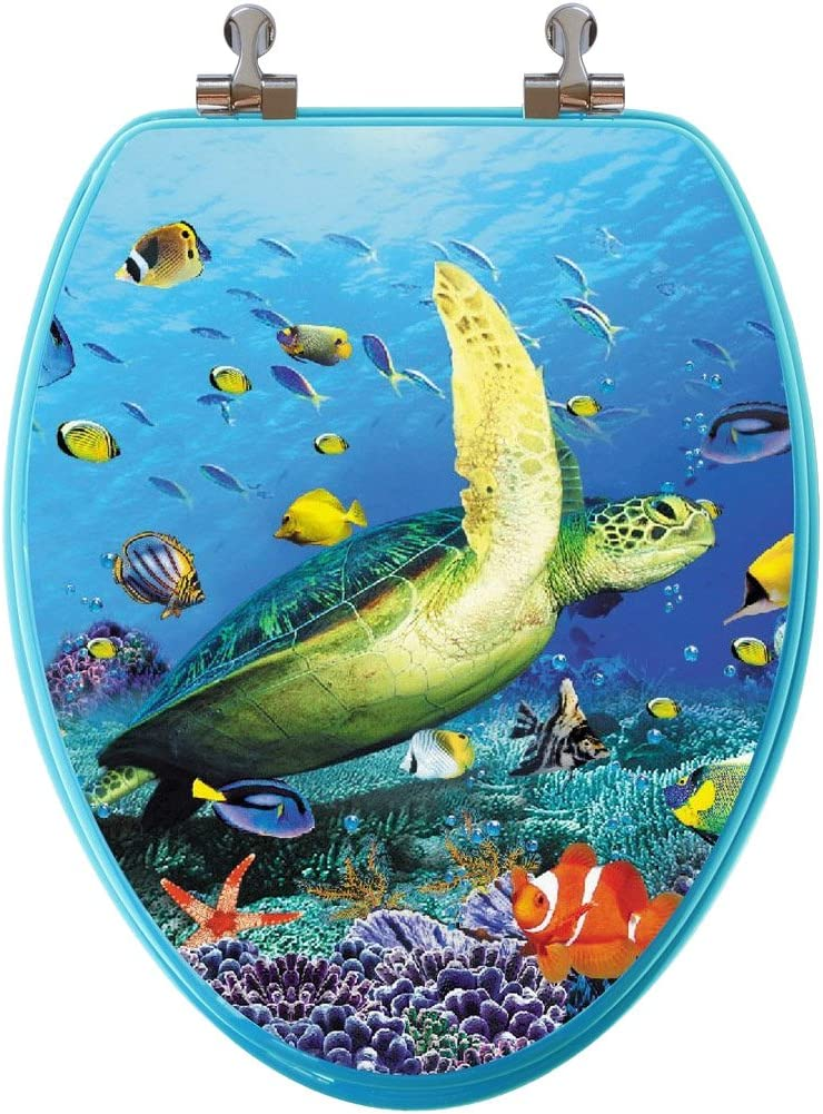 TOPSEAT 6TS3E1900CP 805-1 3D Ocean Topics Popular popular on TV Elongated Seat Series Toilet