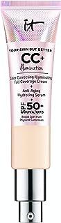IT Cosmetics Your Skin But Better CC+ Cream Illumination, Light (W) - Color Correcting Cream, Full-Coverage Foundation, Anti-Aging Serum & SPF 50+ Sunscreen - Radiant Finish - 1.08 fl oz