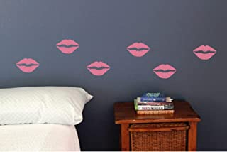 Lips Wall Decals Kisses Lipstick Girly Makeup