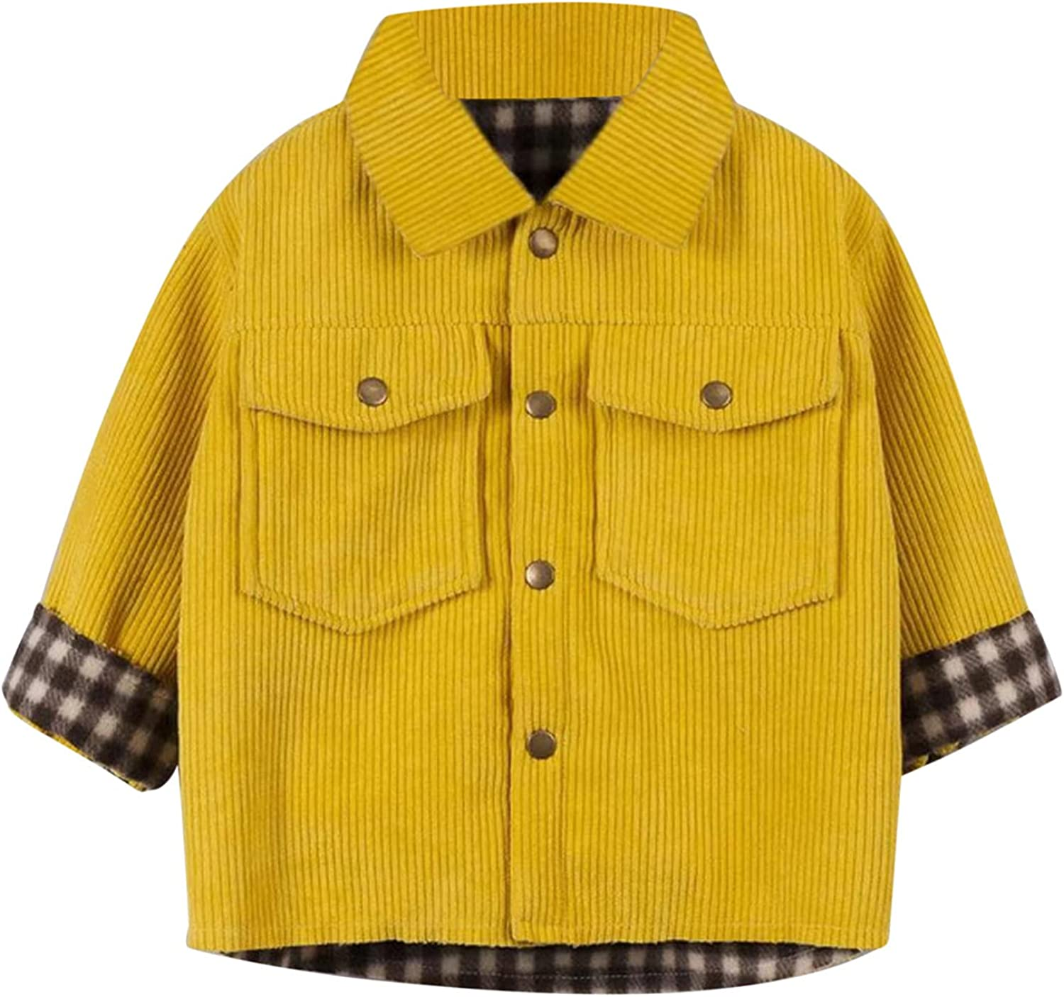 Brand new KONF Free Shipping Cheap Bargain Gift Infant Baby Warm Jacket Hooded Outwear Plaid Boys Girls But