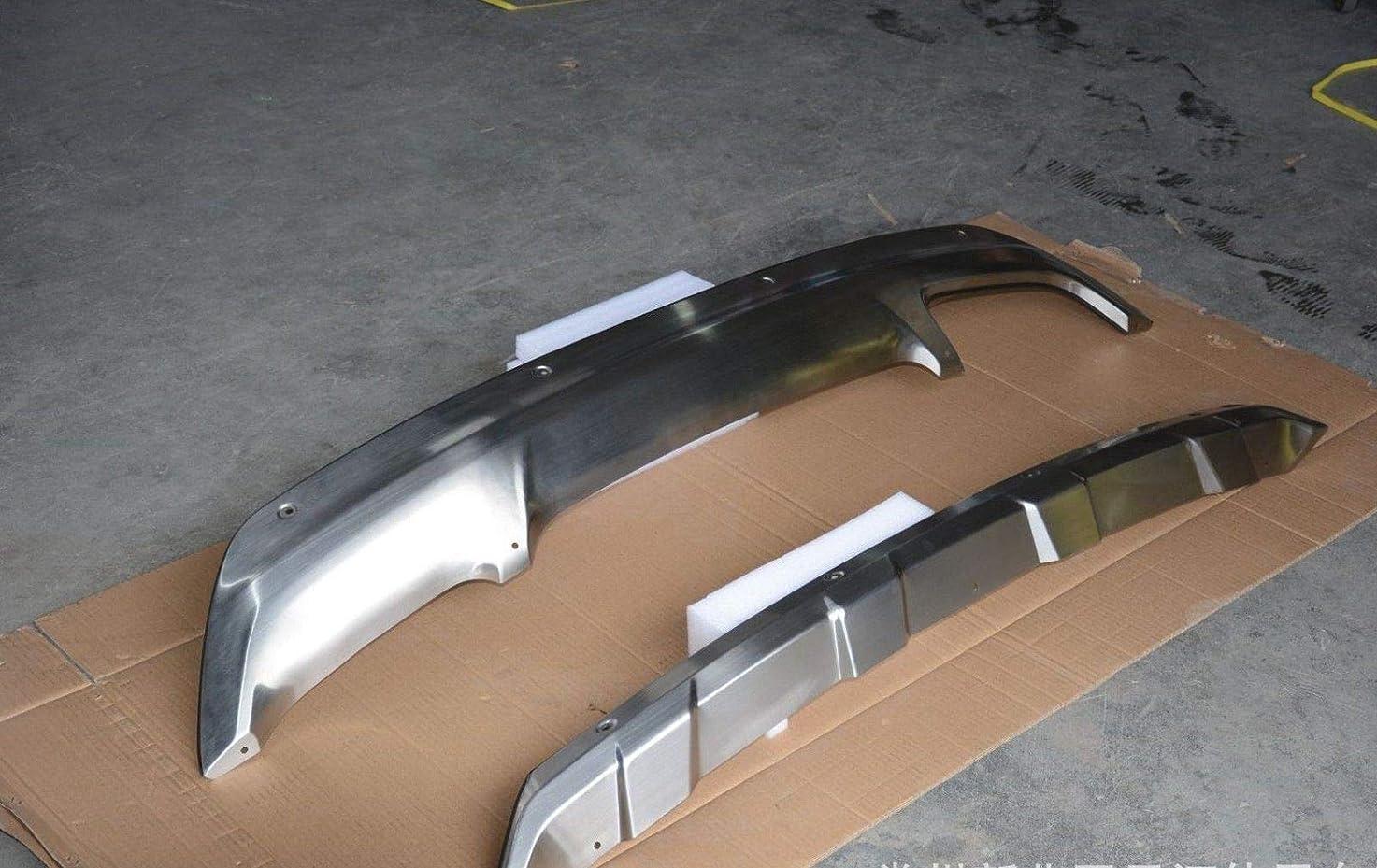 行列ヘッドレス類似性FidgetGear ヒュンダイTUCSON 2016 2017 2018 18バンパーガードスキッドプレート用2Pステンレス鋼