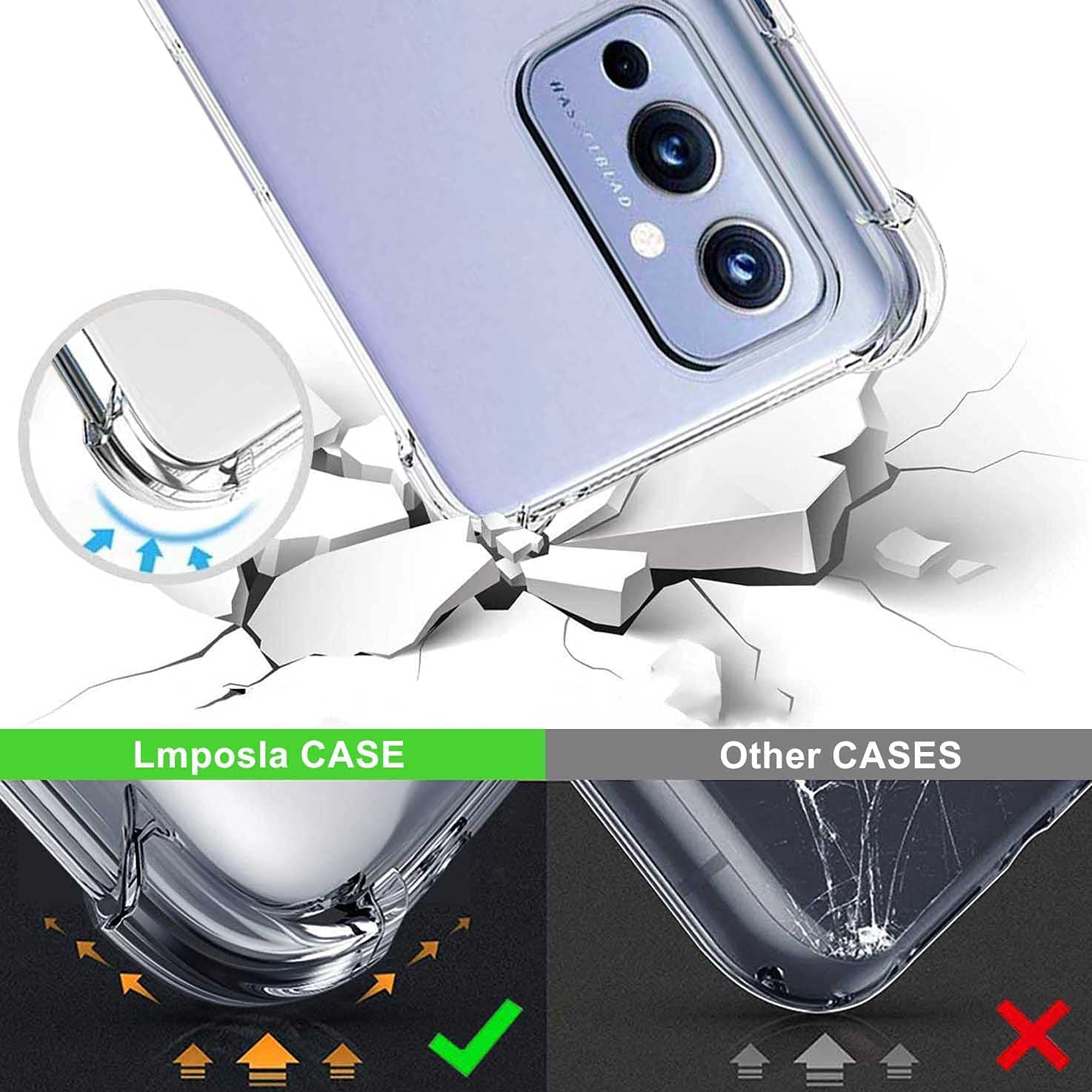 Lmposla for Oneplus 9 Case, 1+ 9 Case, Shockproof Slim Ultra-Thin Flexible TPU Soft Silicone Airbag Anti-Drop Case Cover for Oneplus 9 (Purple lace/Mandala)