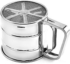 Roestvrijstalen meel Sieve Cup Powder Sieve Mesh Kitchen Gadget For Cakes Hand-Screened Sugar Mesh Sieve Baking Sieve Steiler