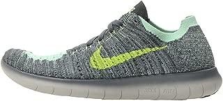 Nike Kids Free RN Flyknit GS, Hasta / Ghost Green - Seaweed, Youth Size 7