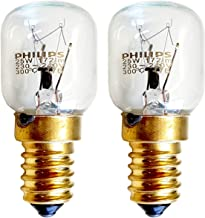 2 x PHILIPS 25w SES E14 Small Screw Cap Pygmy Lamps >300 Degree C Microwave / Oven Rated Light Bulbs Pack