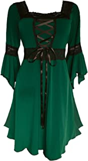 Dare to Wear Renaissance Corset Dress: Timeless Victorian Gothic Witchy Women's Gown for Everyday Halloween Cosplay Festivals