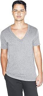 Tri-Blend Deep V-Neck Short Sleeve T-Shirt