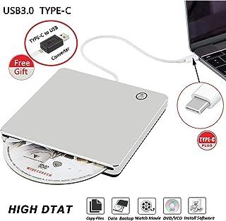 Graveur USB 3.0 externe de CD/DVD de type C Portable Slim DVD/CD ROM Super Drive +/- RW..