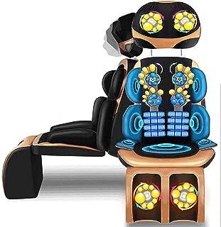 TIANYOU Máquina de Masaje de Cuello, Massager de Cuello Trasero Silla de Masaje Shiatsu para Almohadilla de Cojín de Asiento Cuerpo Completo-8D Matón Eléctrico Ajustable Colchón de