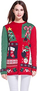 *daisysboutique* Women's Christmas Cute Knitted Tunic Sweater Girl Pullover