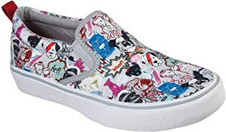Skechers Women's BOBS Marley Jr. - Pop Life Slip On Sneaker, Gray/Multi, 8