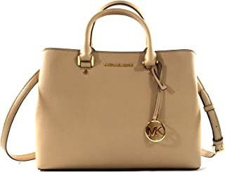 Michael Kors Savannah Saffiano Leather Large Satchel Crossbody Bag Purse Handbag