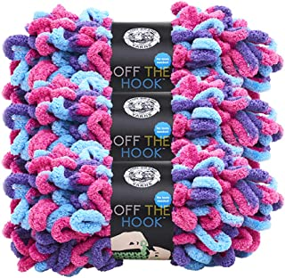 (3 Pack) Lion Brand Yarn 516-201CB Off The Hook Yarn, Hugs and Kisses