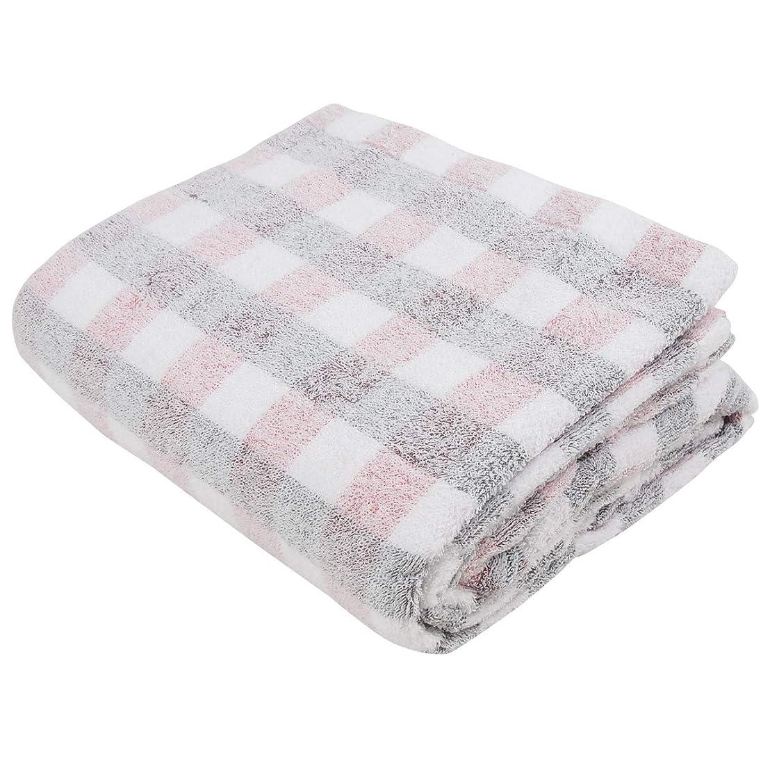 可能性同様に宿題をするタオルケット 綿100% 軽量 シングルサイズ140×190cm ふんわり軽いチェック柄のタオルケット 218ZR13 (ピンク)