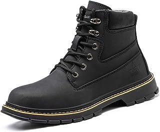 PAQOZKC Chaussures de Sécurité Hommes Femme Montante Hiver Chaussures de Travail avec Embout de Protection en Acier Imperm...