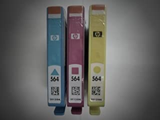 HP SETUP 564 Inkjet Cartridges, Set of 3 (Black, Cyan, Magenta & Yellow) EXP 2012