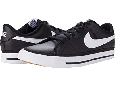 Nike Kids Court Legacy (Big Kid) (Black/White/Gum Light Brown) Kid