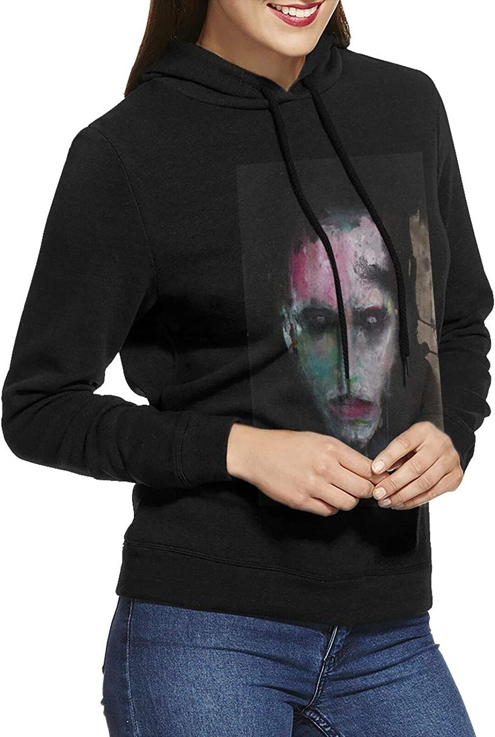 Marilyn Manson Hoodie Women'S Casual Sweatshirts Sle Cotton Gifts Excellence Long