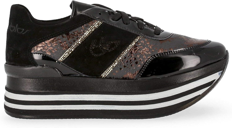 blue Byblos Women Black Sneakers