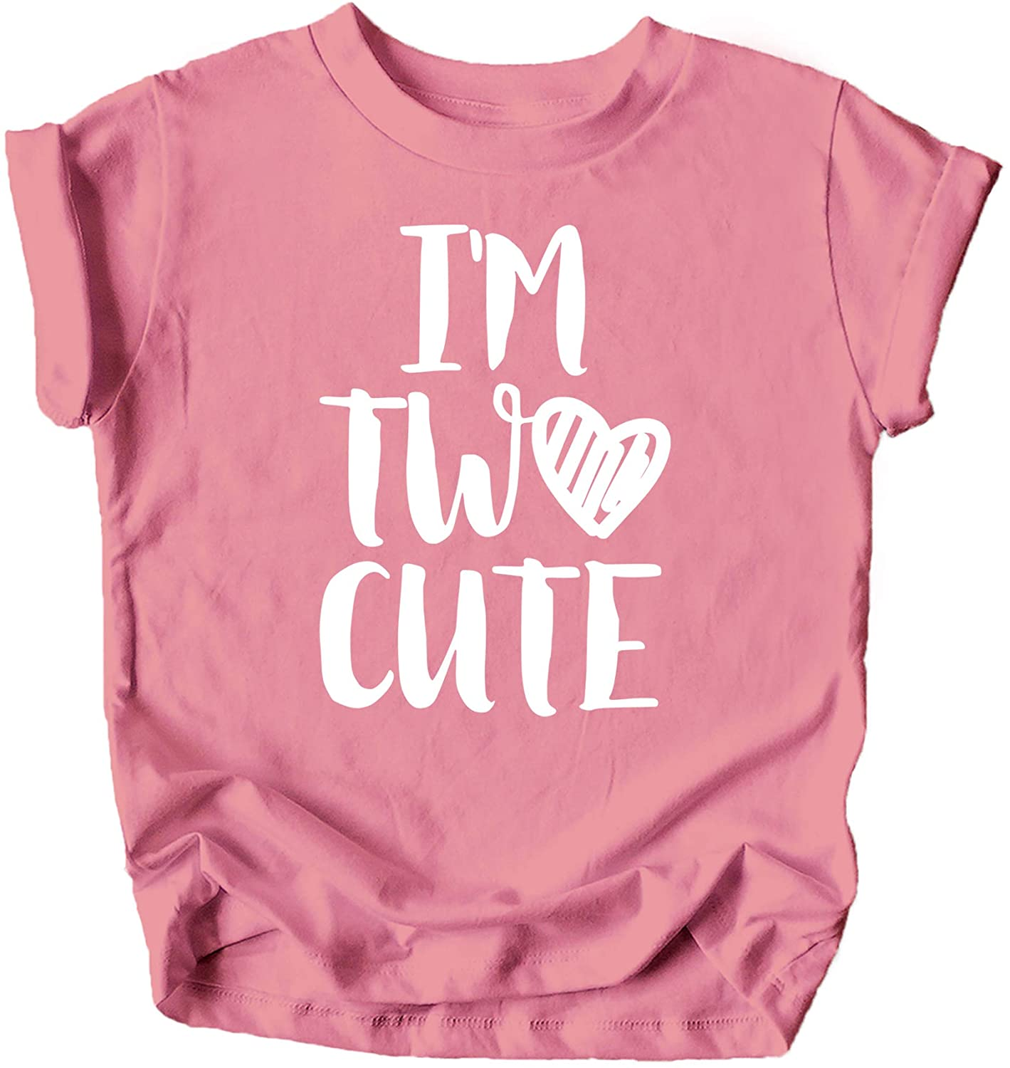 Olive Loves Apple Im Two Cute 2nd Birthday Shirt for Toddler Girls Second Birthday Outfit