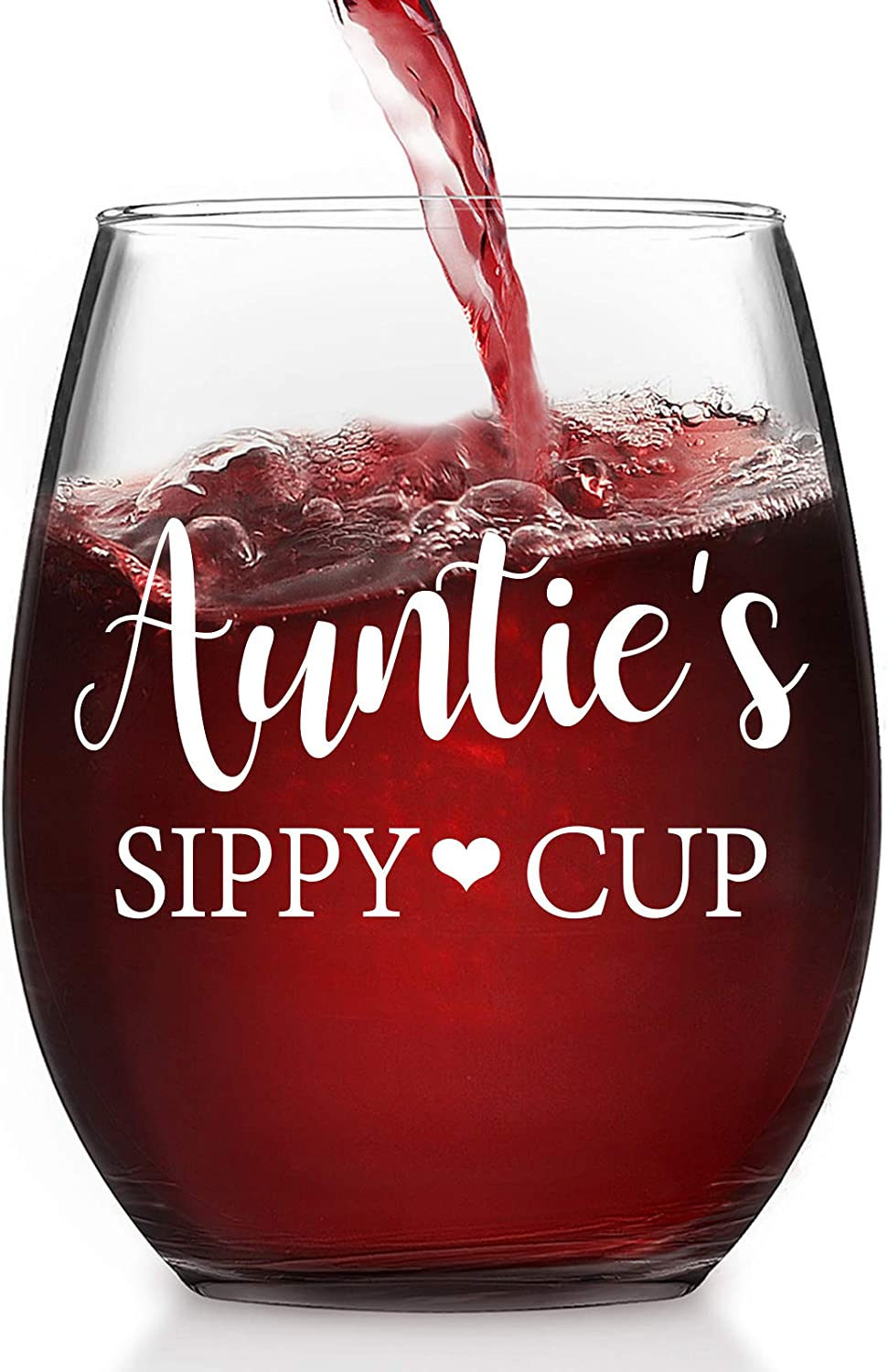 Auntie's Sippy Cup Wine Ranking TOP7 Glass 15Oz for Aunt Arlington Mall Stemless