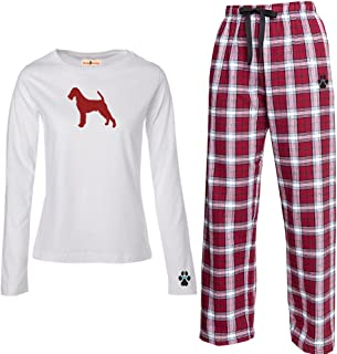 YourBreed Clothing Company Irish Terrier Ladies Flannel Pajamas. Size L