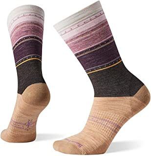 Sulawesi Stripe Crew Socks - Women's Ultra Light Cushioned Merino Wool Performance Socks