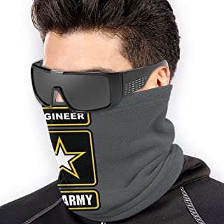N/A US Army Engineer Unisex Microfiber Neck Warmer Neck Gaiter Face Mask Bandana Balaclava