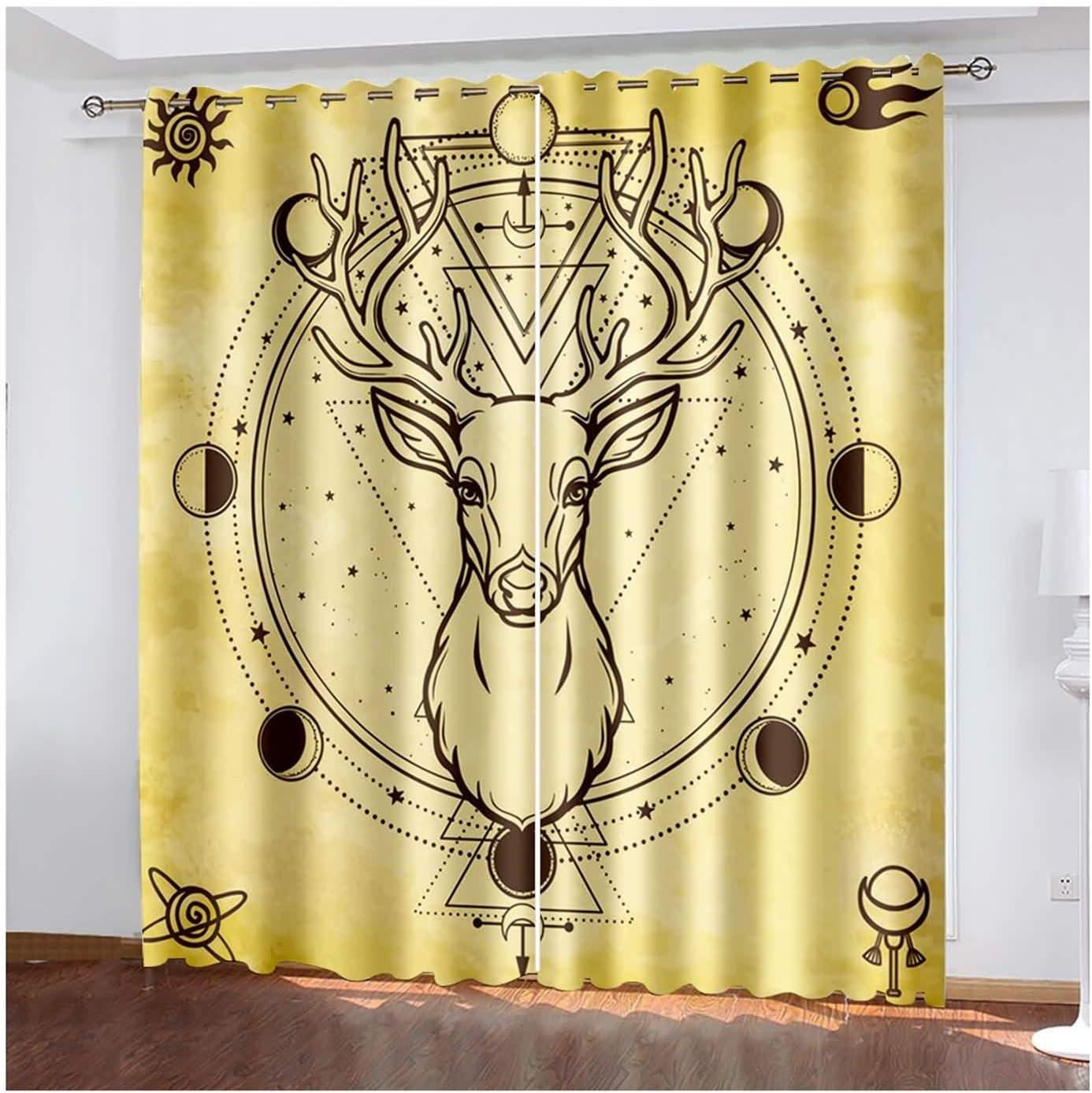 Daesar Blackout Popular popular Drapes 2 Panel Bedroom Kids Ge All items free shipping Curtain