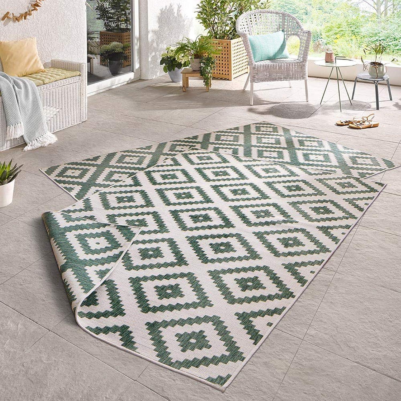 Bougari Malta Wendeteppich In- und Outdoorteppich Outdoorteppich Outdoorteppich grün   creme 80x350 B076M7T3T5 4841fd