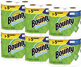 Bounty Quick-Size Paper Towels, White, 12 Family Rolls = 30 Regular Rolls