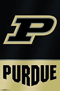 Trends International Collegiate - Purdue University Boilermakers - Logo Wall Poster, 22.375