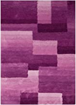 Modern Ultra-Soft Purple Checkered Carpet, Bedroom Living Room Non-Slip Warm mat, Children's Play Carpet (Size : 140 * 200...