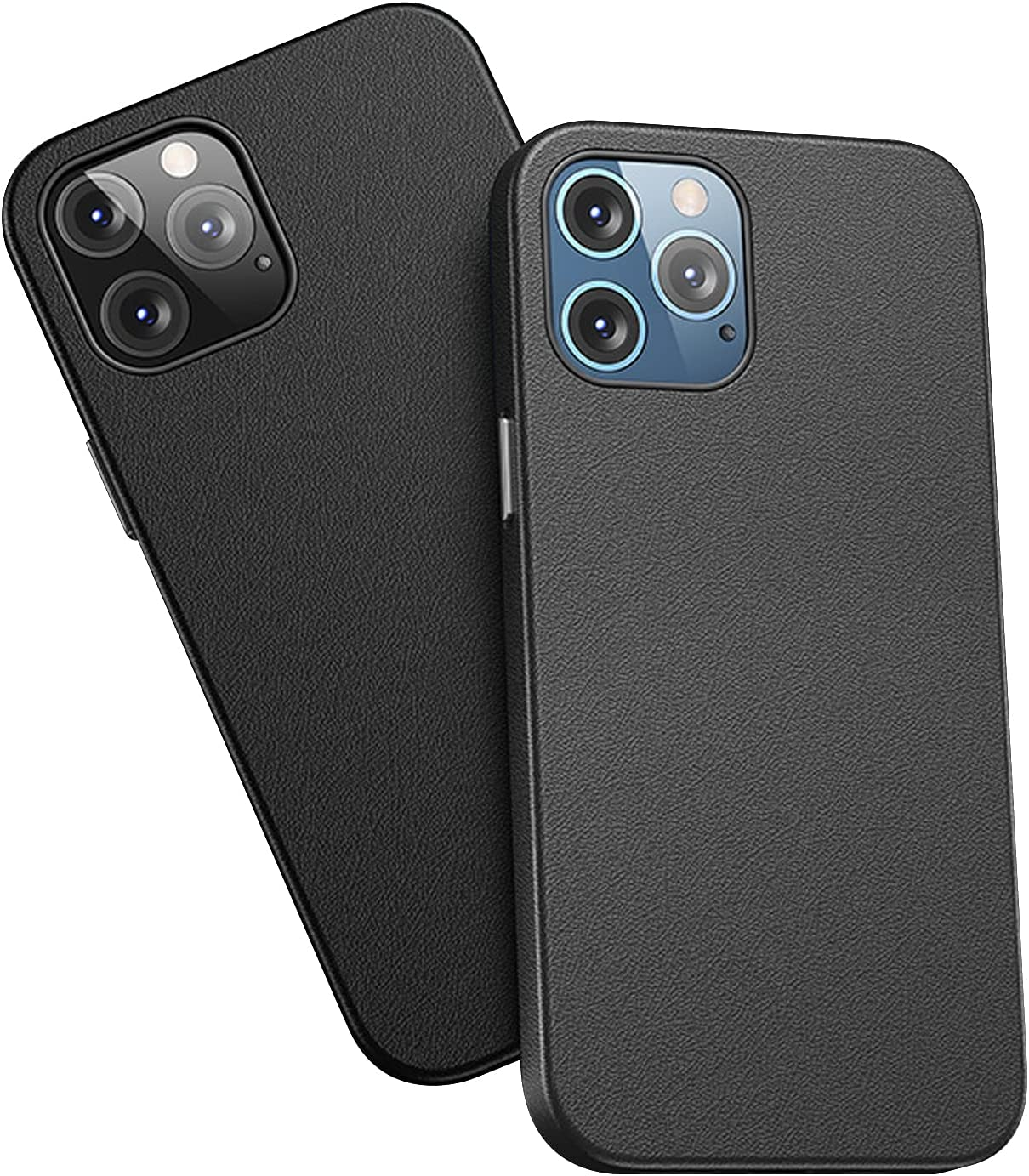 Souina Compatible with Phone 12 Pro Max Case 6.7 inch(2020),Full Body Protection Shockproof Drop Protection Case Hard Shell Protective PU Leather Slim Protective Case (Black)