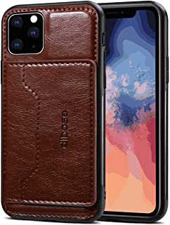 Leather Cover Compatible with iPhone XS, coffee Wallet Case for iPhone XS