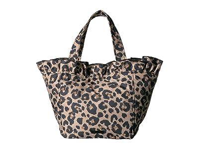 Loeffler Randall Claire Nylon Canvas Tote (Leopard) Handbags