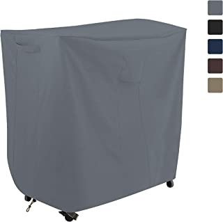 COVERS & ALL Bar Cart Cover 12 Oz Waterproof - 100% UV & Weather Resistant Outdoor Cart Cover with Air Pocket and Drawstring for Snug Fit (32