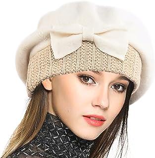 f1165e63320 VECRY Women s 100% Wool Bucket Hat Felt Cloche Bow Dress Winter Hats
