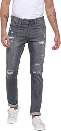 AMERICAN CREW Men's Straight Fit Non Stretchable Jeans