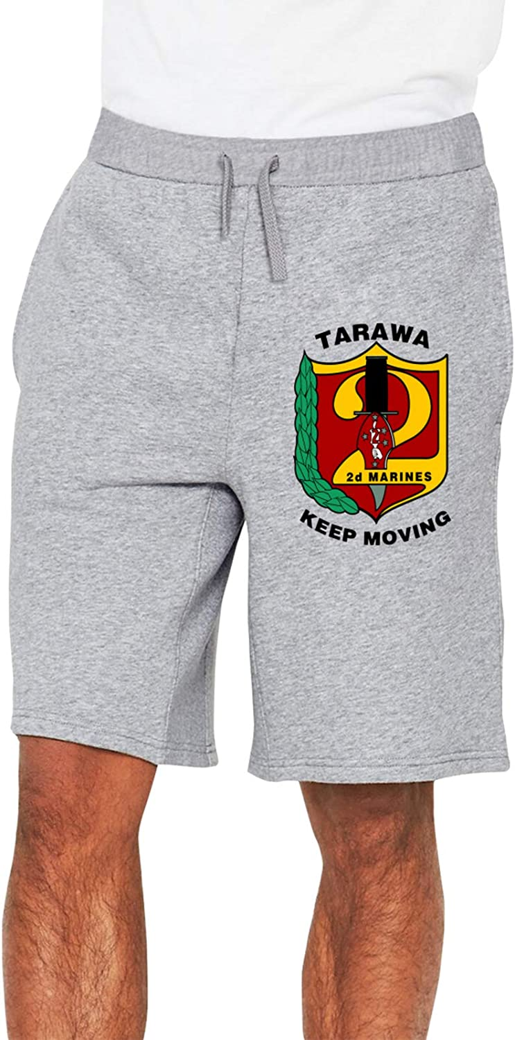 2nd Recon Battalion4 Man's Loose Track Pants Jersey Shorts Pockets