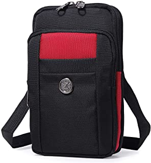 Sentient Wolf Water-Resistant Oxford Fabric Multifunction Phone Bag One Shoulder Phone Waist Bag Diagonal Cross Bag Smart ...