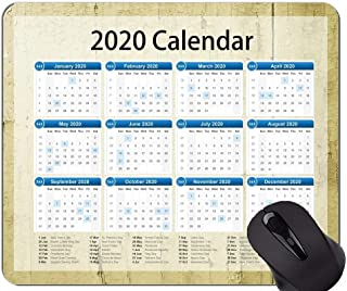 2020 Galaxy Calendar Mouse Pads Customized, Abstract Leather Themed Office Mouse Pad