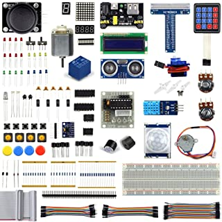 UCTRONICS Ultimate Starter Learning Kit for Raspberry Pi 3 w/Tutorial, ADXL345, GPIO Cable, DC Motor, HC-SR04 Ultrasonic Distance Sensor, LED Displays (205 Items)