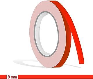 Siviwonder Zierstreifen neon rot Leuchtend Glanz in 9 mm Breite und 10 m Länge Aufkleber Folie für Auto Boot Jetski Modellbau Klebeband Dekorstreifen   fluoreszierend grell rot
