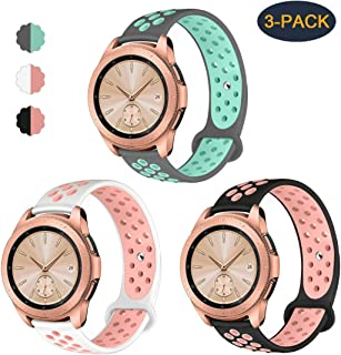 Valband Compatible Samsung Galaxy Watch (42mm) Band/Galaxy Watch Active (40mm) Bands,Soft Silicone 20mm Watch Band Replacement Sport Strap Wristband for Women Men