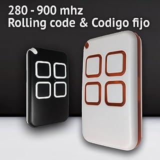 vcbbvghjghkhj Control Remoto Universal Fob de Control Remoto para Puerta de cochera Copia de autom/óvil Copia de c/ódigo y Negro