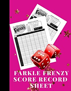 Farkle Frenzy Score Record Sheet: A Cute Pink Large Scoring Card Pads, Log Book Keeper, Tracker, Of Farkle Game Set Dice Thrown; With 100 Pages To ... and Management For Kids And Adults