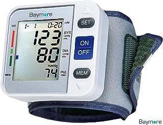 Baymore Digital Wrist Blood Pressure Monitor Cuff, BP Machine Pulse Rate Monitoring
