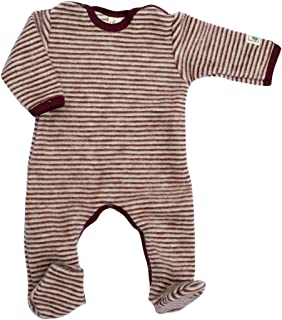 Lilano Natur Lilano, Fleece Flausch Overall mit Fuß, 100% Wolle kbT