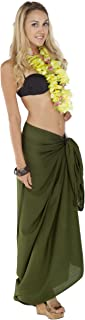 1 World Sarongs Women's Solid Swimsuit Cover Up Sarong